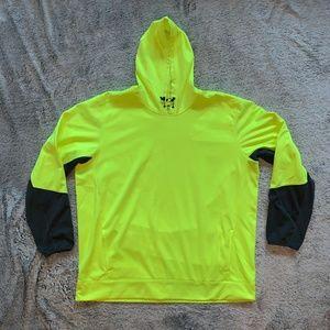 Reebok Performance Neon Yellow Hoodie XXL
